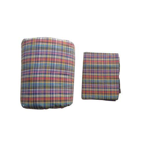 ผ้าห่มนวมฝ้ายแท้ 100% ขนาด 4.5 ฟุต สีผสม