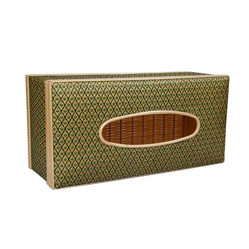 กล่องทิชชู พิกุล (สีเขียว)