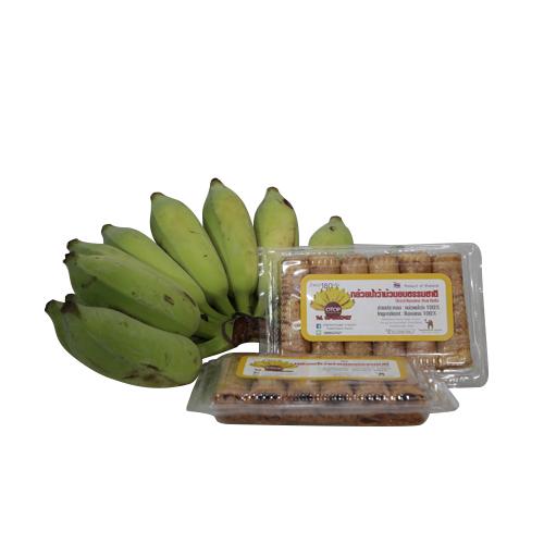 กล้วยม้วน อร่อย ท้าให้คุณลอง ปริมาณน้ำหนัก 300 กรัม 5 กล่อง